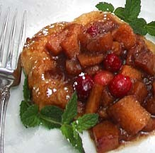 Croissant French Toast with Spiced Apples, Pears, & Cranberries